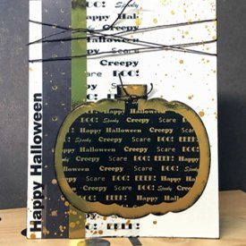 Grafix Metallic Pumpkin Card
