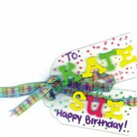 Craft Plastic Birthday Tag