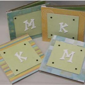 Monogrammed Chipboard Notebooks