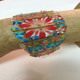 Flower-Full Shrink Film Bracelet