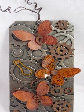 Cogs and Butterflies Tag